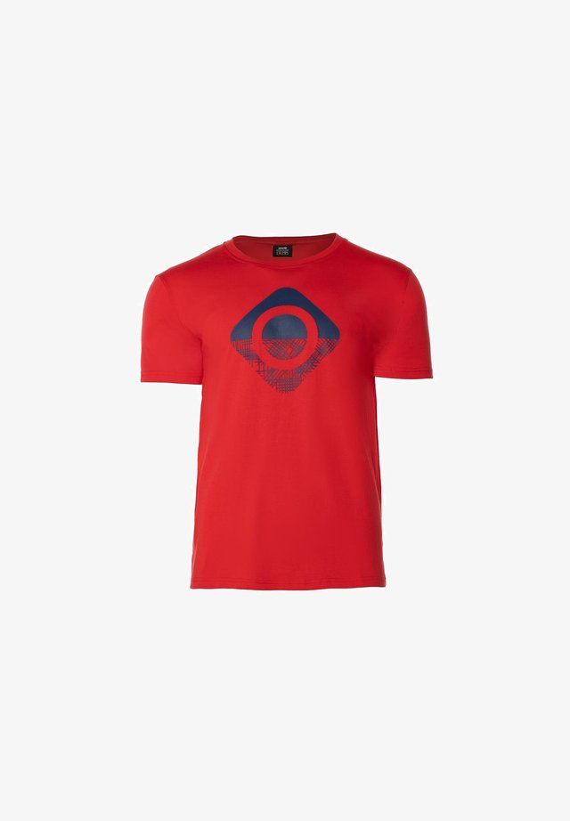 GRANBY - T-shirt con stampa - red/bluemoon