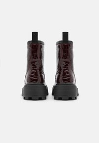 Topshop - BAE SQUARE TOE LACE UP - Lace-up ankle boots - burgundy - 3