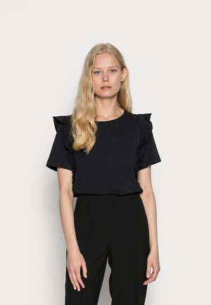 FRILL TEE - T-shirt con stampa - black