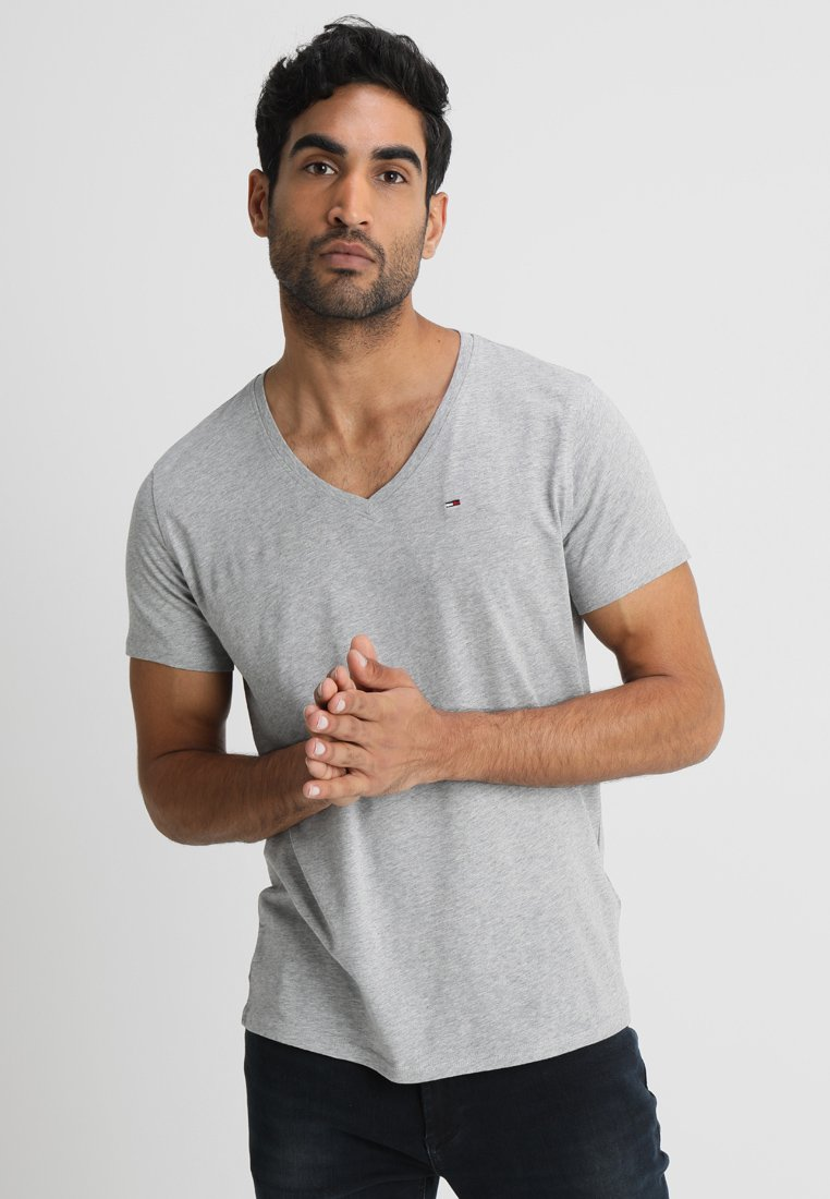 Tommy Jeans - ORIGINAL REGULAR FIT - Basic T-shirt - light grey heather