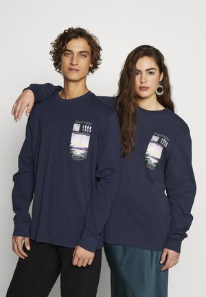 FRONT GRAPHIC LONG SLEEVE UNISEX - Long sleeved top - navy