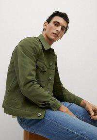 Mango - Denim jacket - khaki - 4