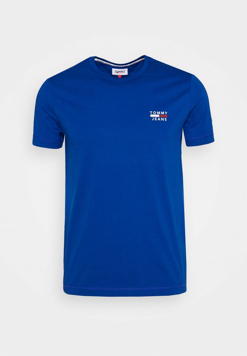 Tommy Jeans - CHEST LOGO TEE - T-shirt med print - blue