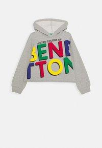 Benetton - BASIC GIRL - Mikina skapucí - grey - 0