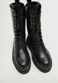 Mango - MONET - Lace-up ankle boots - schwarz - 6