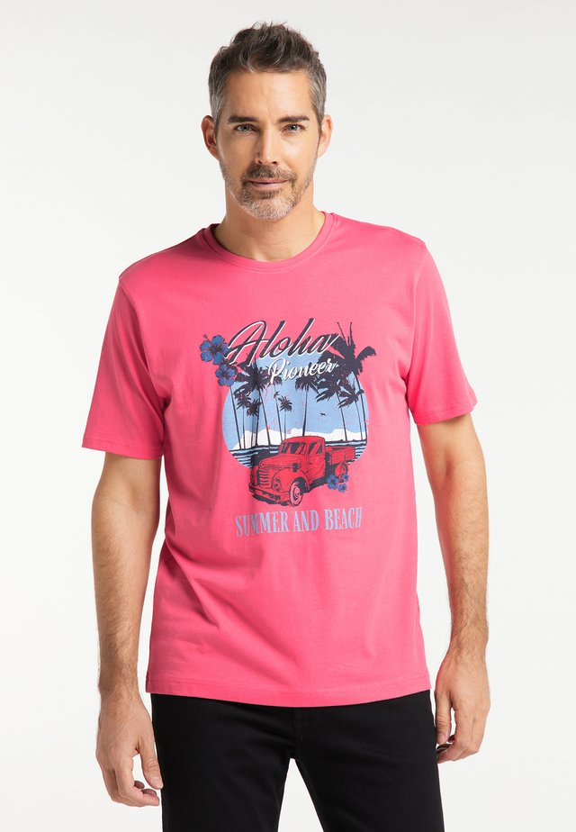 T-shirt imprimé - coral red