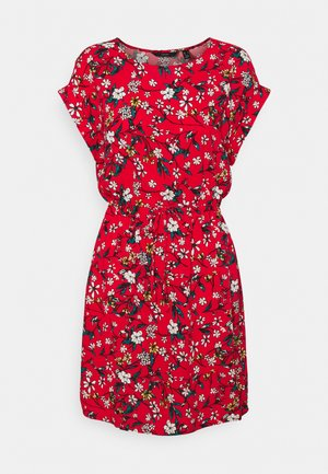 VMSIMPLY EASY TIE SHORT DRESS - Vardagsklänning - goji berry/lotte