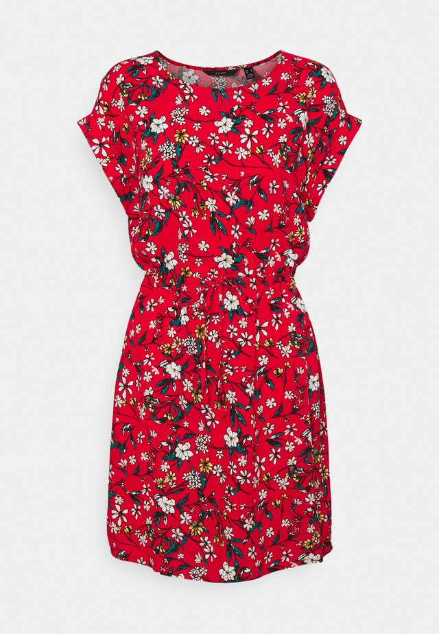 VMSIMPLY EASY TIE SHORT DRESS - Robe d'été - goji berry/lotte