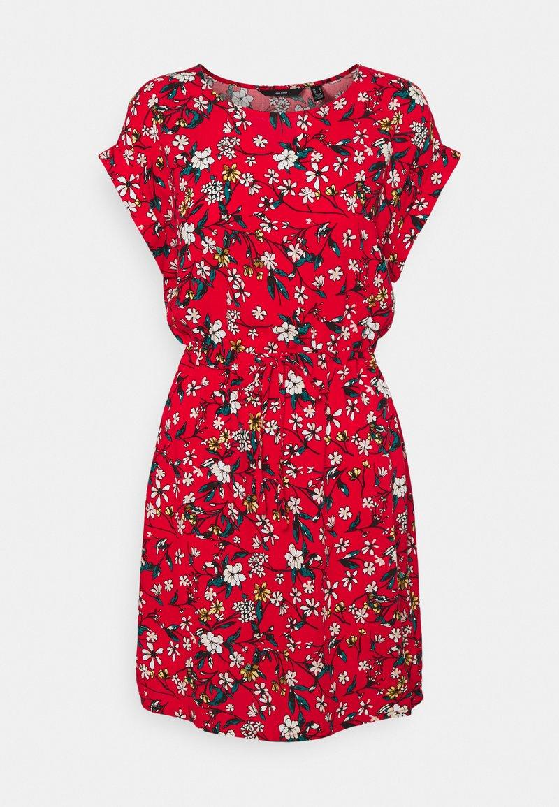 Vero Moda - VMSIMPLY EASY TIE SHORT DRESS - Robe d'été - goji berry/lotte
