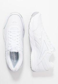 Reebok - WORK N CUSHION 4.0 - Walking trainers - white/cold grey - 1
