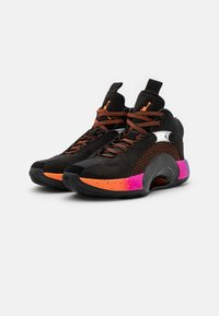 Jordan - AIR XXXV - Basketball shoes - black/total orange/hyper grape - 1