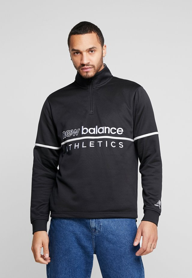 ATHLETICS TRACK ZIP - Sweatshirt - black