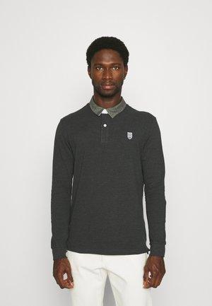 COLLAR RUGBY - Koszulka polo - mottled dark grey