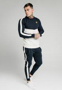 SIKSILK - CUT AND SEW CREW - Sweatshirt - navy/snow marl - 1