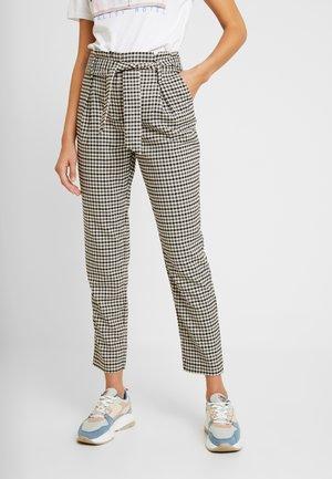 Trousers - grape leaf/black/cream