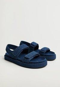 Mango - Sandals - mittelblau - 1