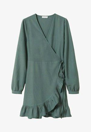 MIT VOLANT-DETAIL - Day dress - petrolblau