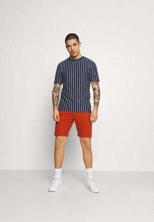 2 PACK - T-shirt med print - white/navy