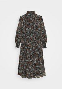 Simply Be - HIGH NECK SHIRRED WAIST MIDI DRESS - Day dress - black - 0