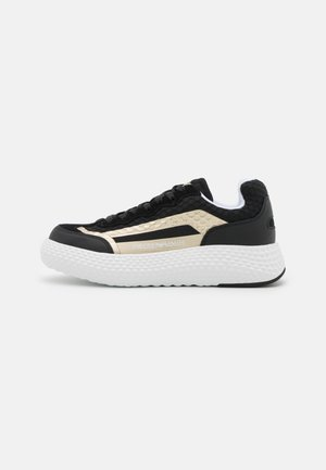 Trainers - black/shiny gold