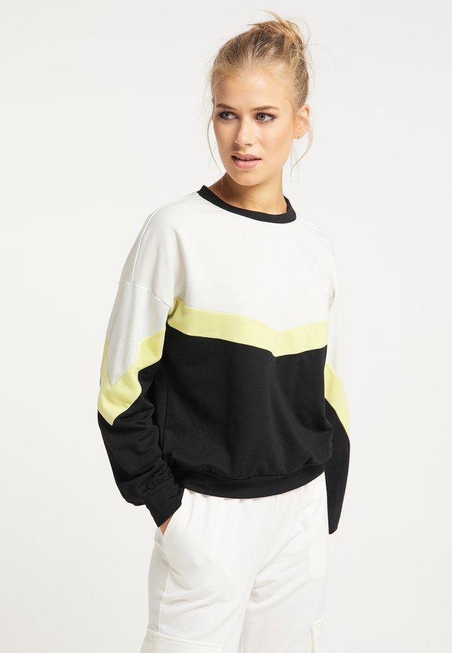 Sweater - schwarz gelb weiß