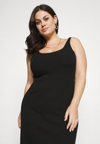 Selected Femme Curve - SLFNANNA STRAP DRESS - Jersey dress - black - 4