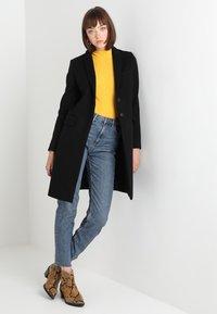 Benetton - CLASSIC TAILORED COAT - Classic coat - black - 1