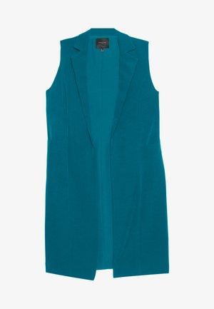 LONG VEST - Vest - medium blue