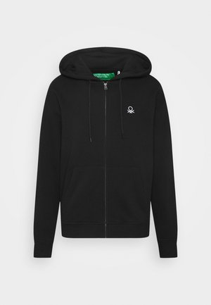 ZIP HOODIE CREW NECK - Zip-up hoodie - black