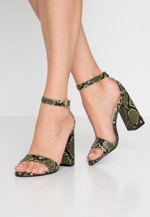 HONEY  - Sandály na vysokém podpatku - lime