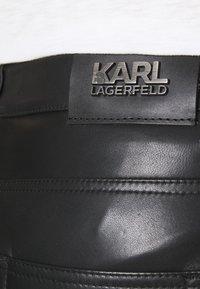 KARL LAGERFELD - PANTS - Spodnie skórzane - black - 4