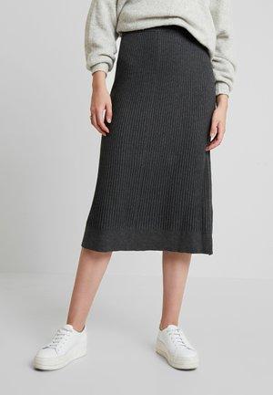 DOLLIE - Áčková sukně - dark grey melange