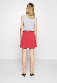 Even&Odd - A-line skirt - brick red - 2