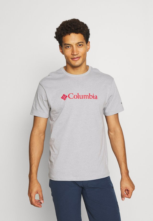 BASIC LOGO SHORT SLEEVE - T-shirt con stampa - columbia grey heather