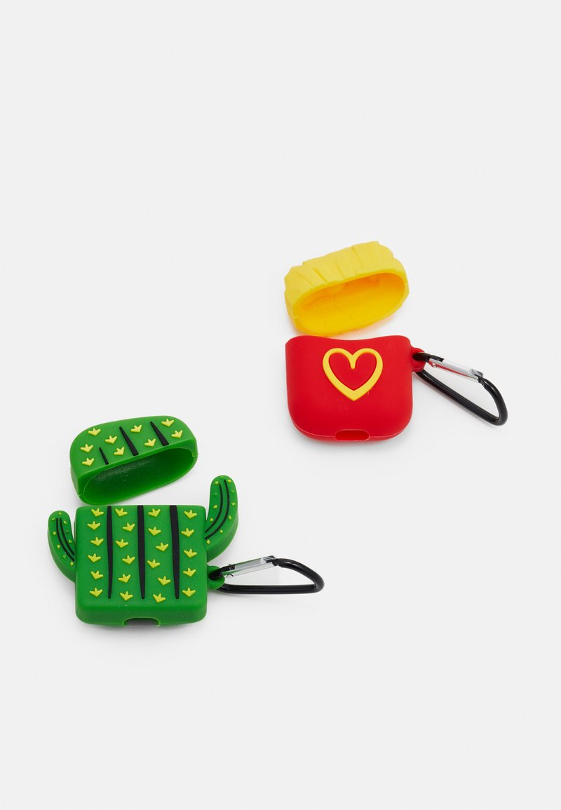 Urban Classics - POPART EARPHONECASE UNISEX 2 PACK - Other - green/yellow