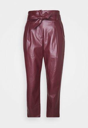 TABLEAU PANTALON - Trousers - burgundy