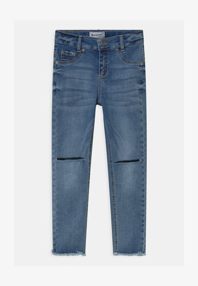 GIRLS ULTRASTRETCH KNEE CUT - Jeans Skinny Fit - medium blue