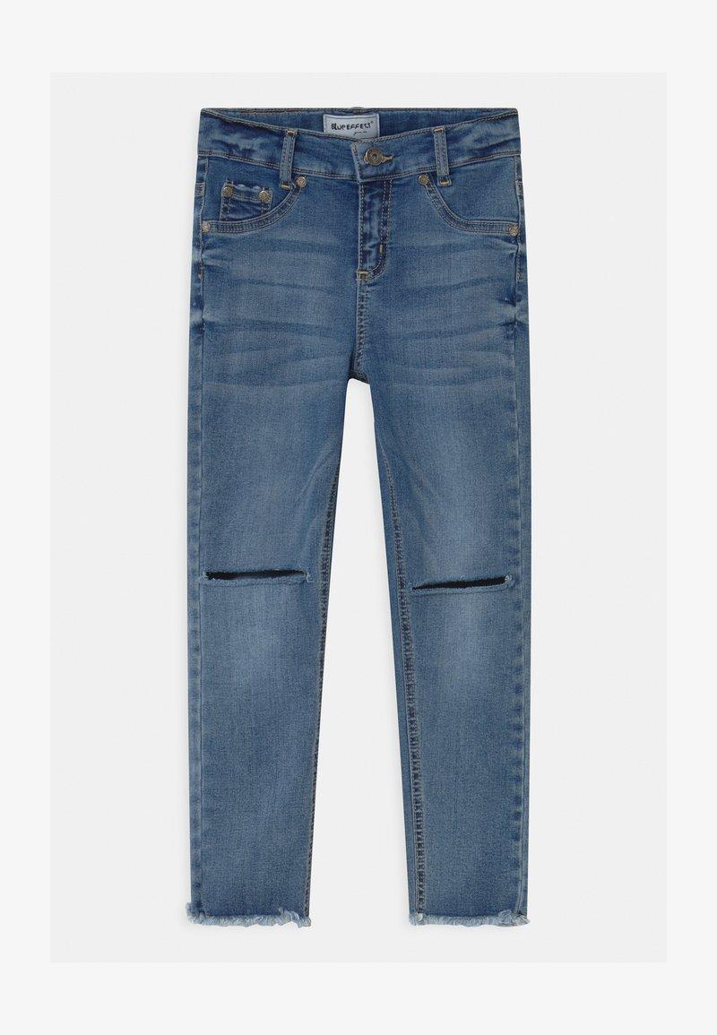 Blue Effect - GIRLS HIGH WAIST CROPPED ULTRASTRETCH KNEE CUT OPEN SEAM - Jeans Skinny Fit - medium blue