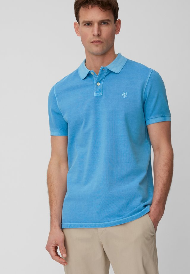 SHORT SLEEVE BUTTON PLACKET - Polo shirt - azure blue