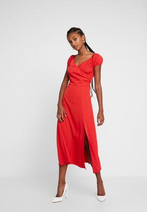 OFF SHOULDER MAXI DRESS - Žerzejové šaty - red