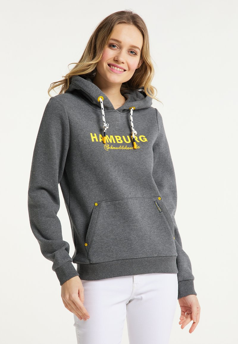 Schmuddelwedda - HAMBURG - Hoodie - grau melange
