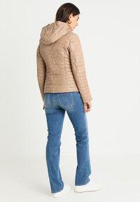 Oakwood - FURY - Leather jacket - dark beige - 3