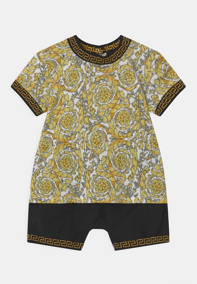 BAROQUE KIDS GREC SET UNISEX - T-shirt imprimé - white/gold/black