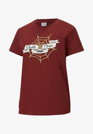 X CHARLOTTE OLYMPIA  - Print T-shirt - red dahlia
