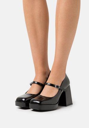 VEGAN JANE SHOE - Escarpins à plateforme - black