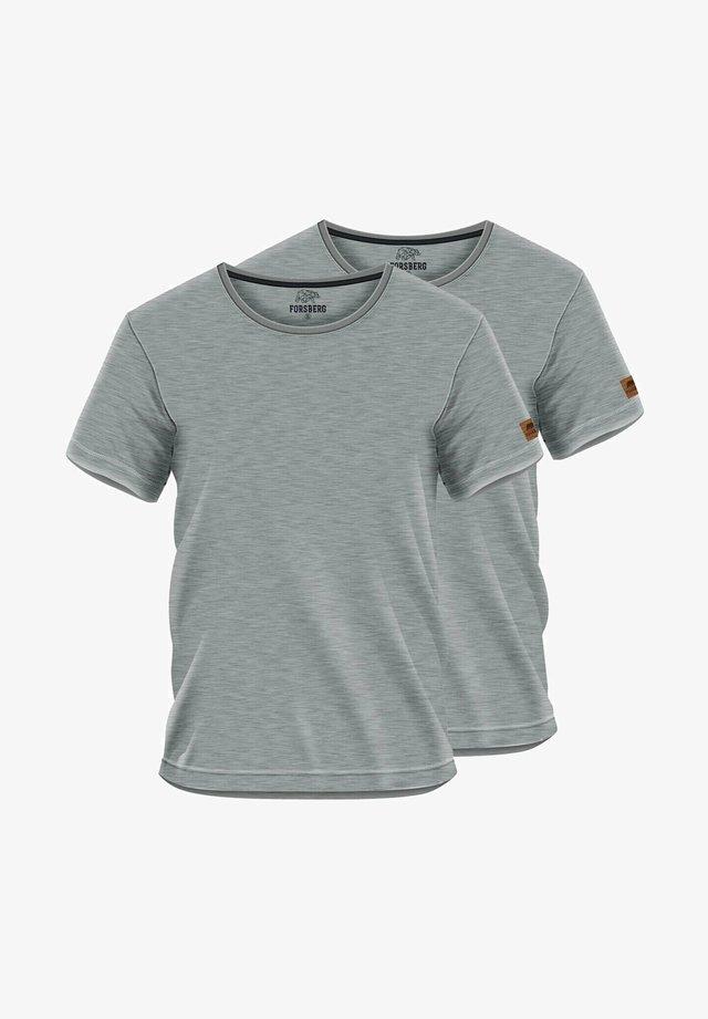 2 PACK - Basic T-shirt - grau
