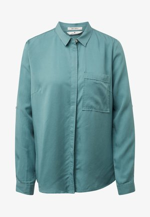 Button-down blouse - mineral stone blue