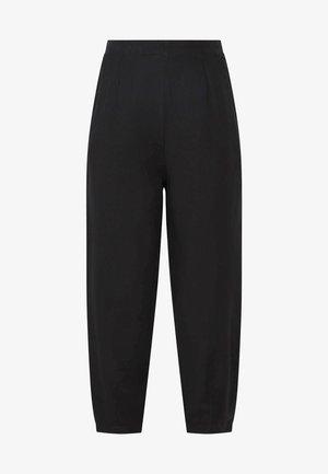 MIT LEINENANTEIL - Pantaloni - black