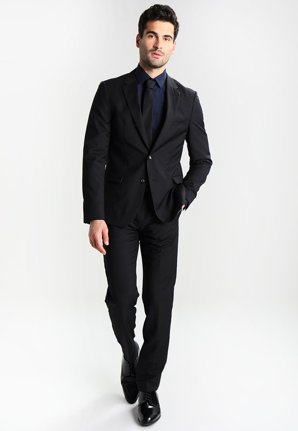Calvin Klein Tailored BARI SLIM FIT - Koszula biznesowa - blue/granatowy Odzież Męska MWMM
