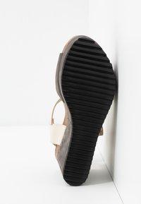 MAHONY - PATTY - High heeled sandals - grey/beige - 6